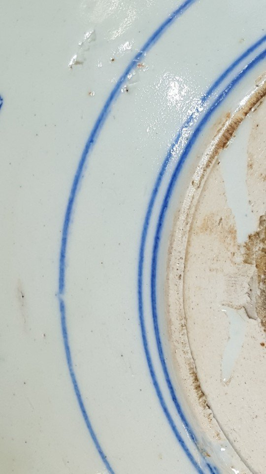 Chinese blue scenery plate Qing dynasty - 8