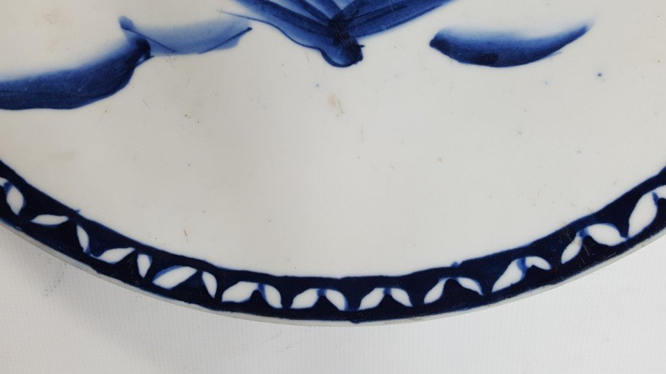 Chinese blue and white scenery plate - 4