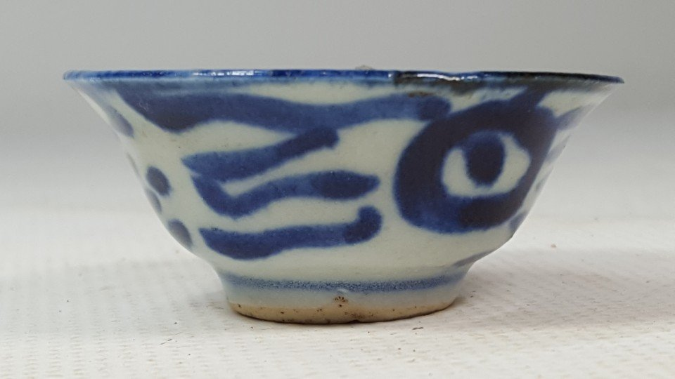 Chinese Blue and White Cup in Flower Pattern - 2
