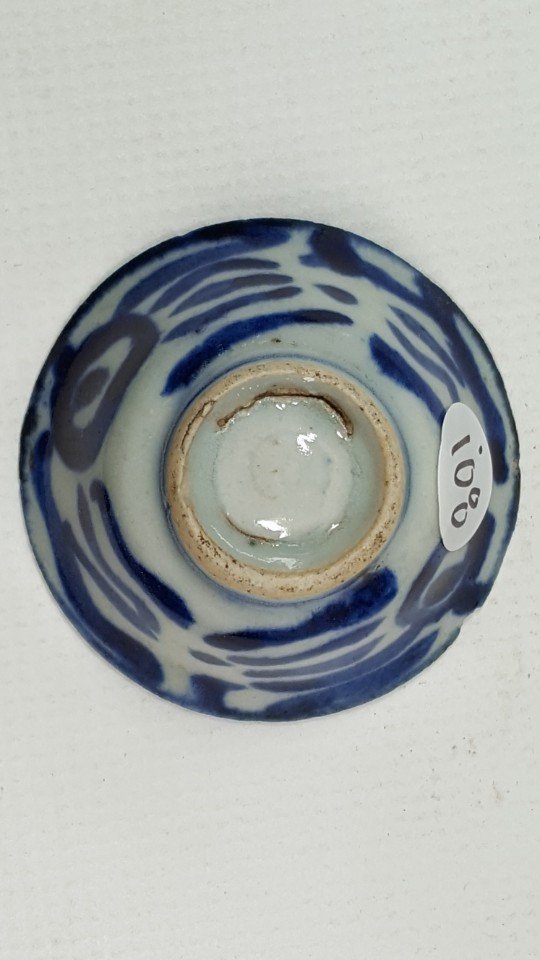 Chinese Blue and White Cup in Flower Pattern - 4