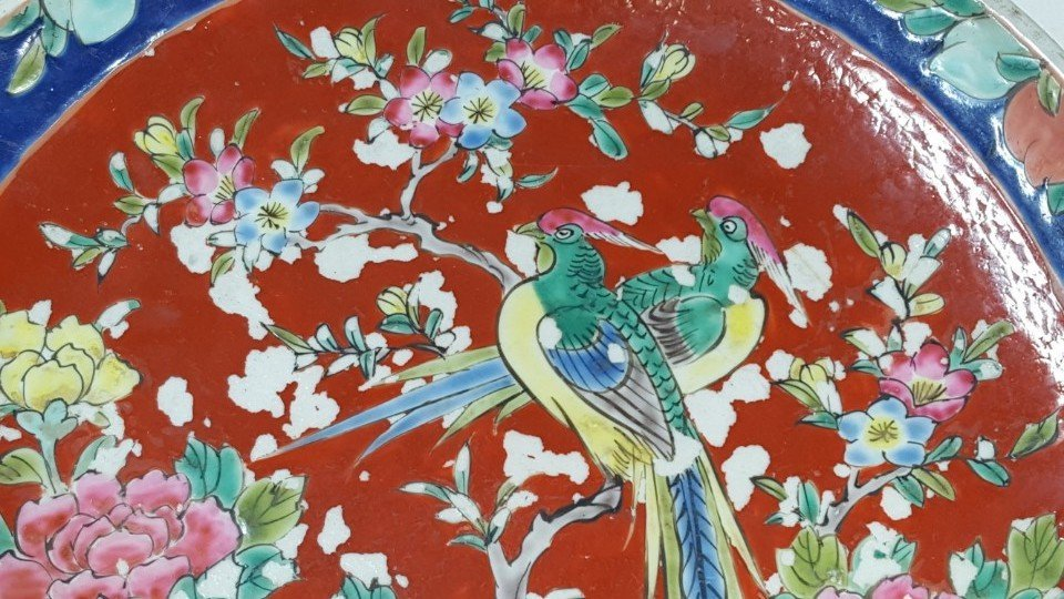 Chinese flower porcelain plate - 2