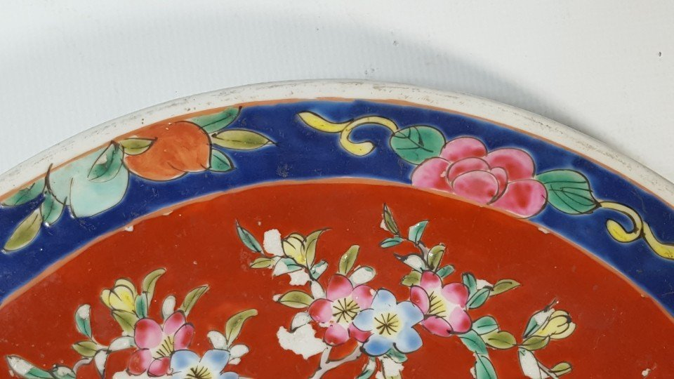 Chinese flower porcelain plate - 4