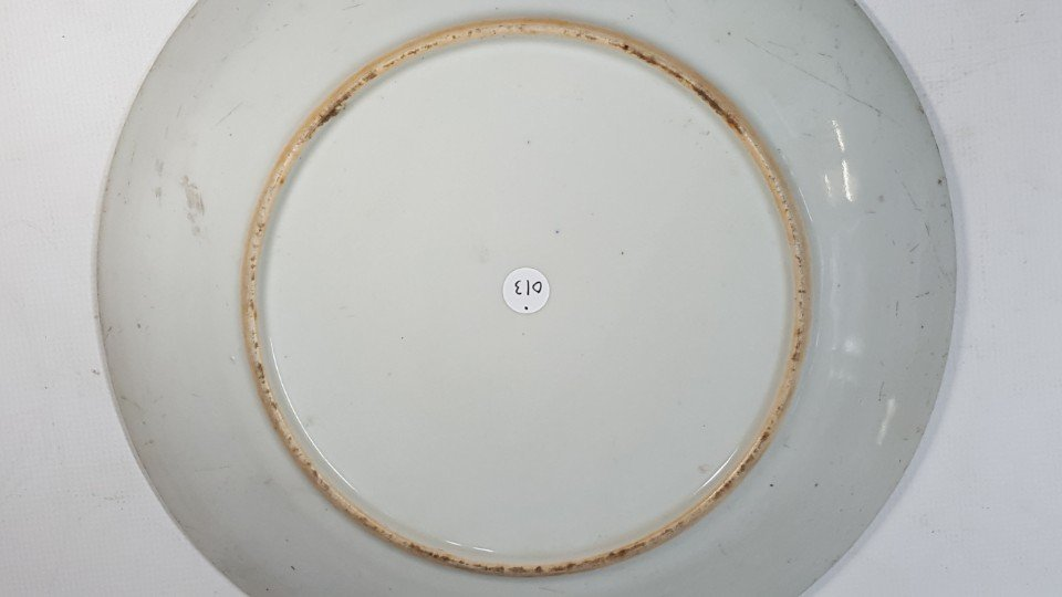 Chinese flower porcelain plate - 7