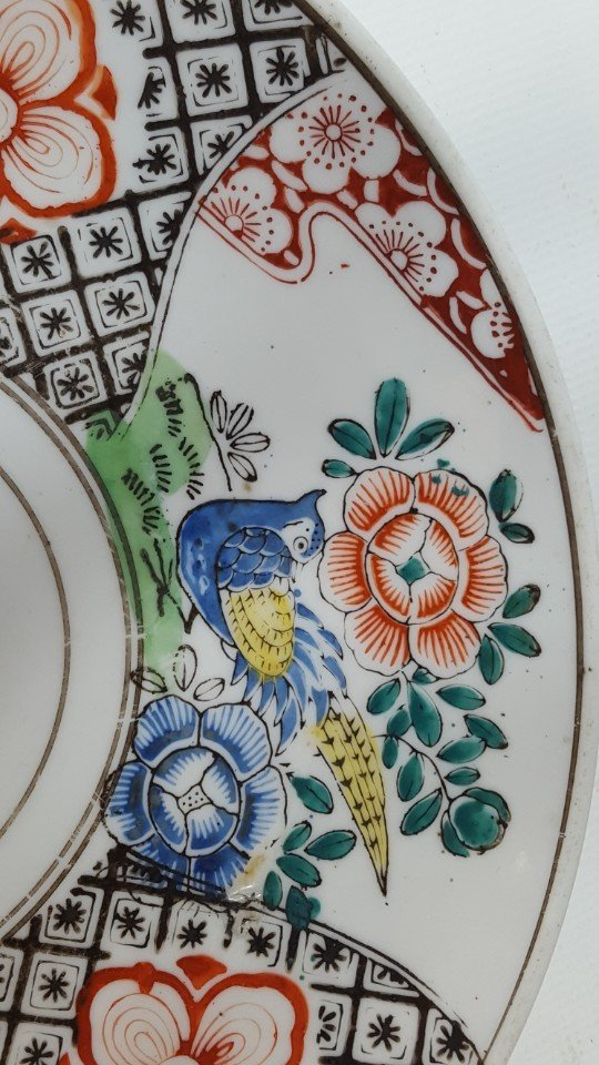 Chinese flower porcelain plate - 5