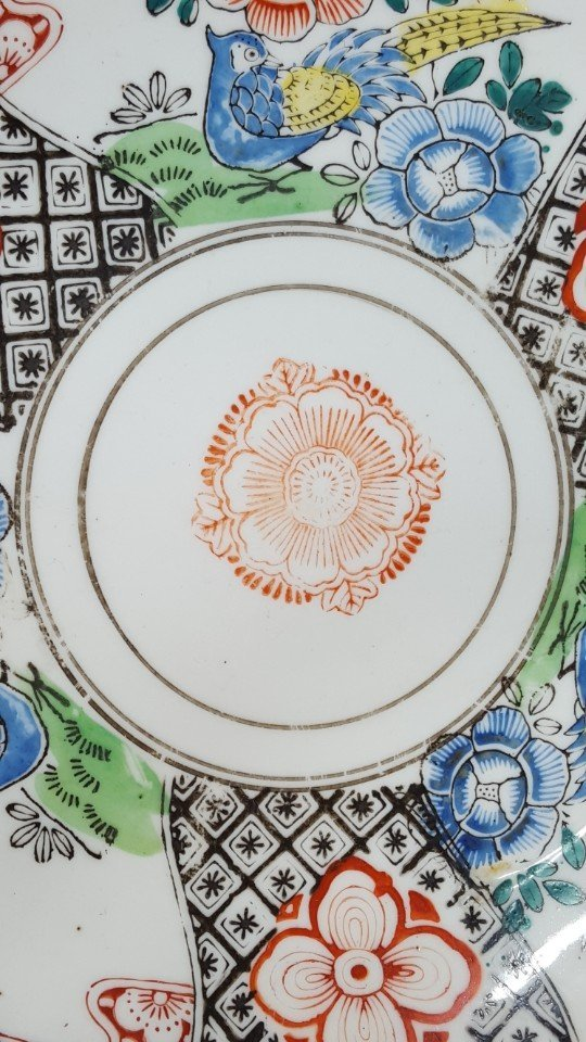 Chinese flower porcelain plate - 6