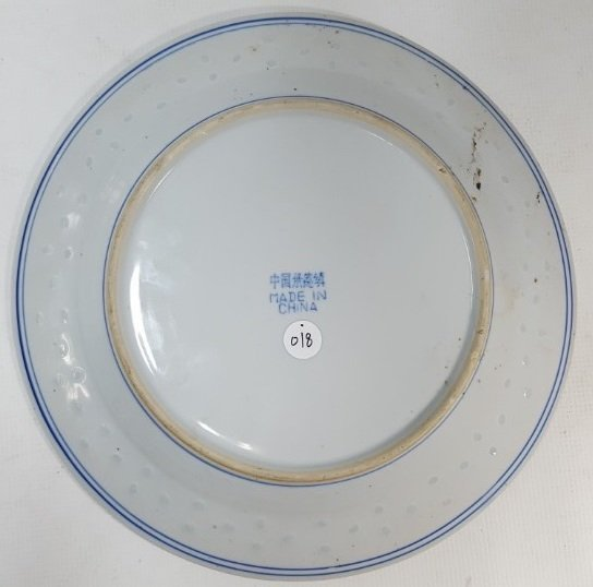 Chinese blue and white dragon porcelain plate - 4