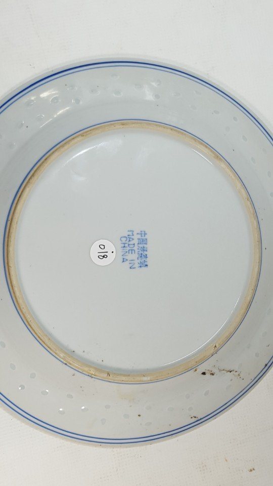 Chinese blue and white dragon porcelain plate - 6