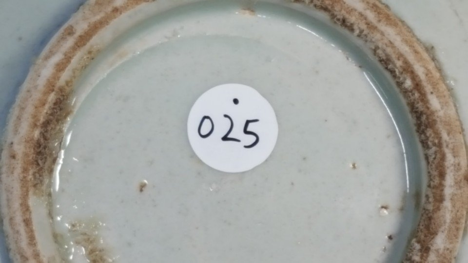 Chinese small blue plate Qing dynasty - 7