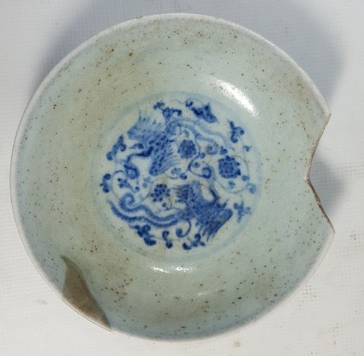Chinese small plate from Yuan dynasty