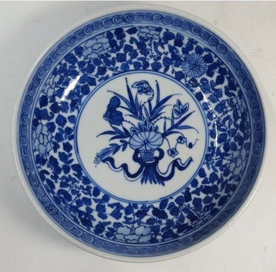 Chinese blue and white porcelain plate Daoguang