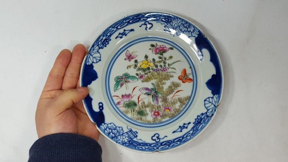 Chinese flower porcelain plate from Qing dynasty - 2