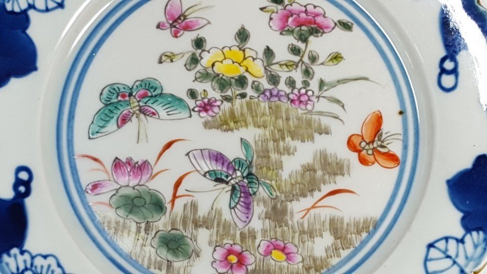 Chinese flower porcelain plate from Qing dynasty - 3