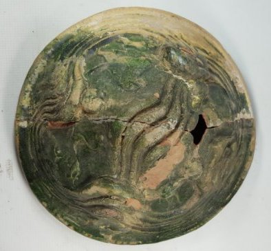 Chinese Green Glaze Boshan Furnace Cover - 3