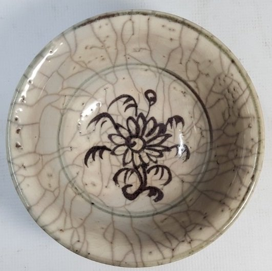Chinese small porcelain bowl from Yuan dynasty