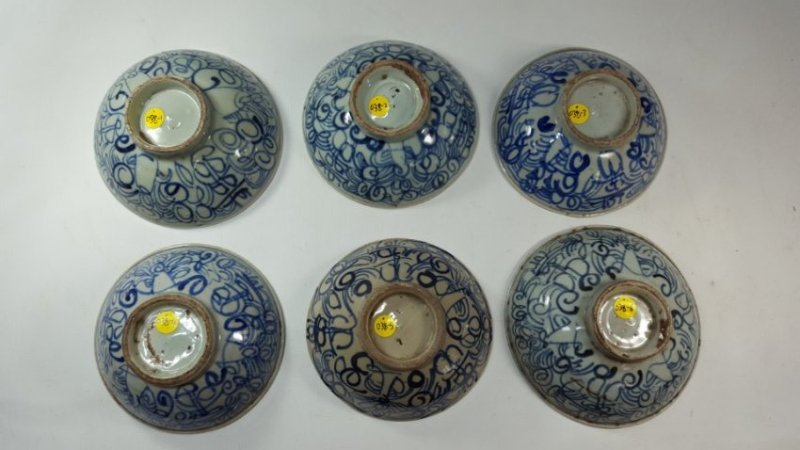 Chinese set of six bowls Ming dynasty