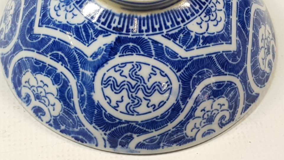 Chinese set of two blue and white bowls - 8