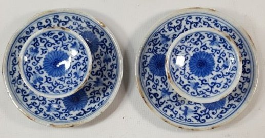 Chinese set of two candle stands Qing dynasty