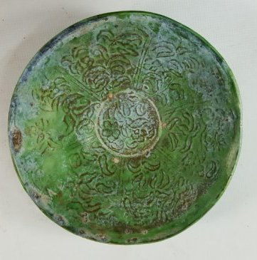 Chinese Green Grazed bowl from Liao dynasty