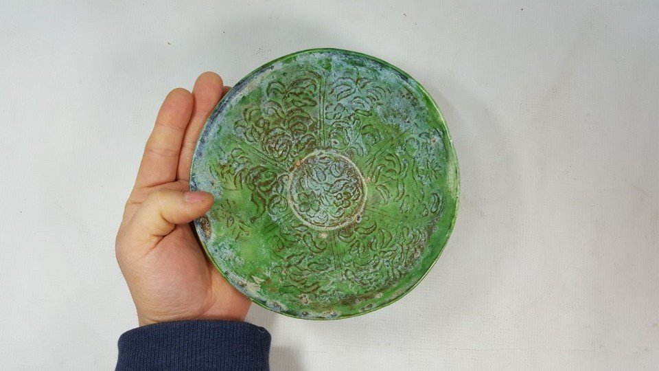 Chinese Green Grazed bowl from Liao dynasty - 2
