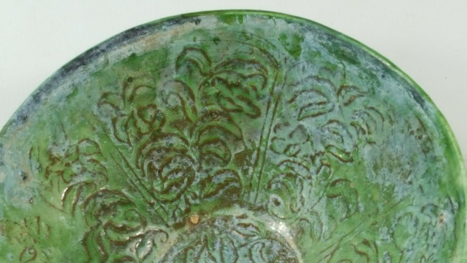 Chinese Green Grazed bowl from Liao dynasty - 3