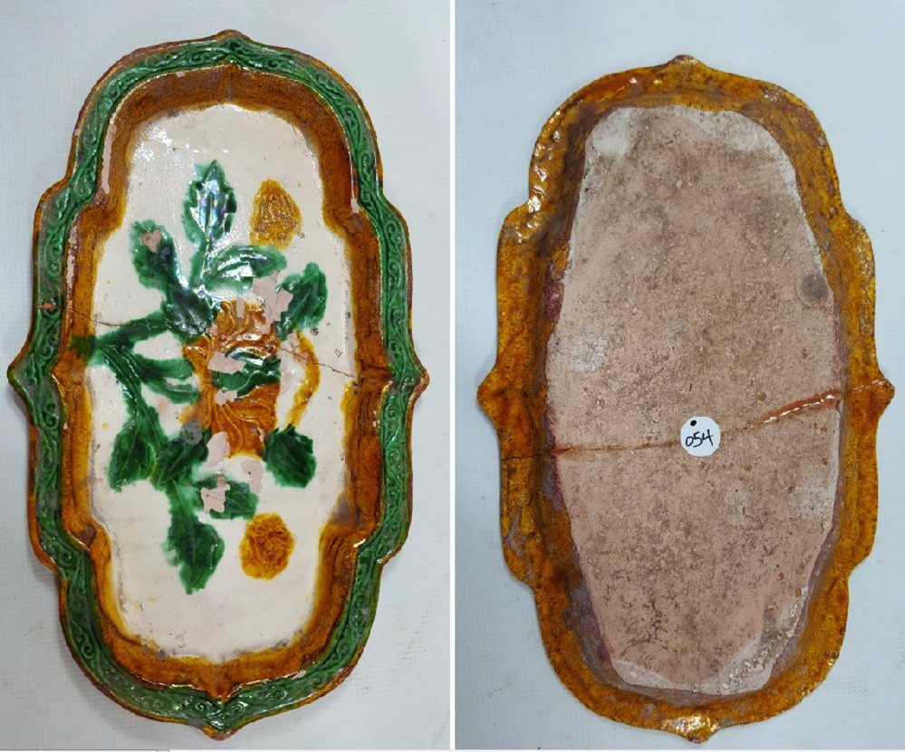 Chinese Sancai ( 三彩 ) plate Liao dynasty