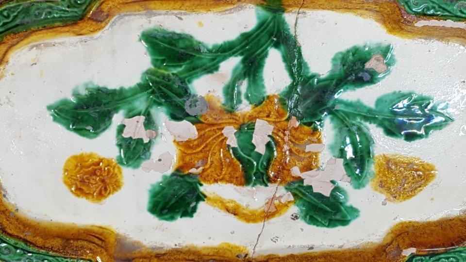 Chinese Sancai ( 三彩 ) plate Liao dynasty - 2
