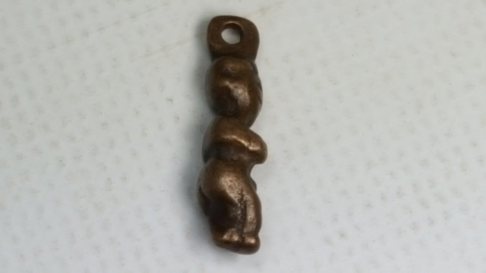 Chinese Liao Bronze Shaman Boy Charm - 4