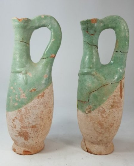 Chinese set of 2 wine bottles from Liao dynasty