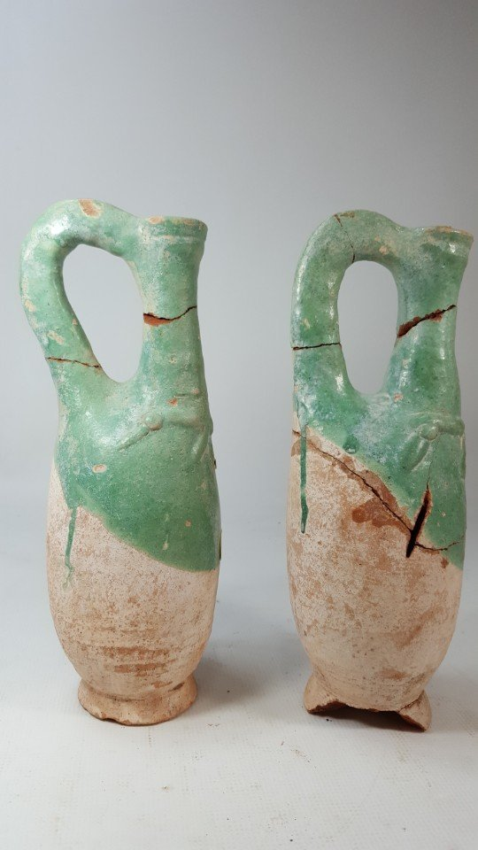 Chinese set of 2 wine bottles from Liao dynasty - 2