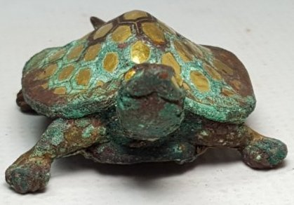 Chinese Gilt Gold Turtle Figurine