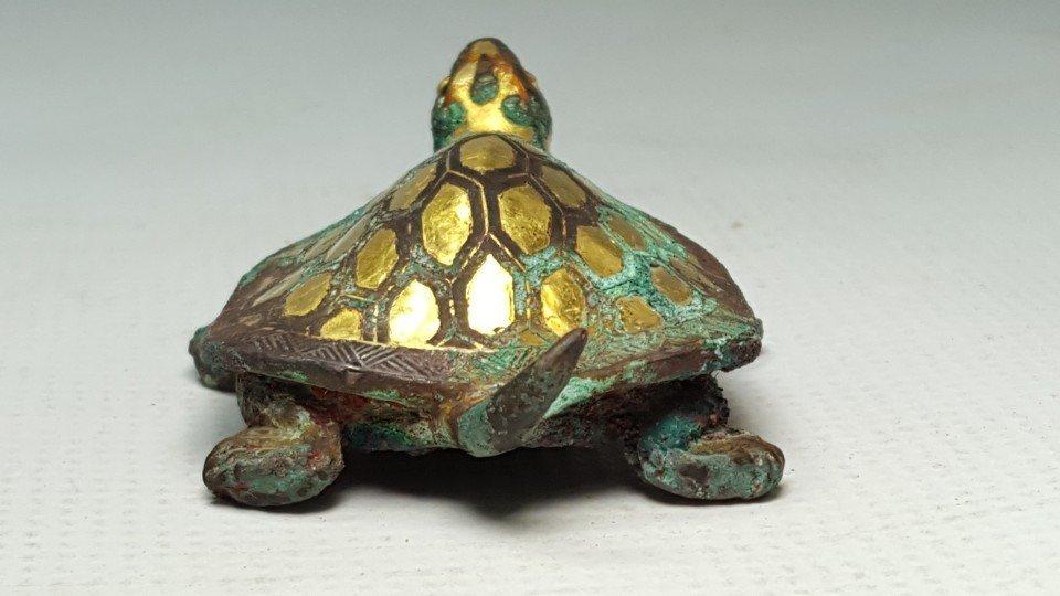Chinese Gilt Gold Turtle Figurine - 2