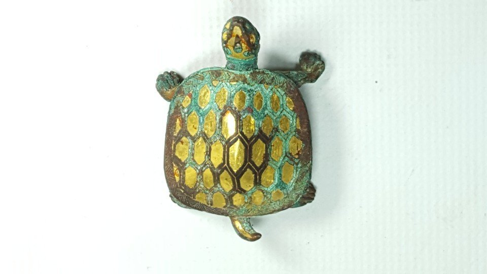 Chinese Gilt Gold Turtle Figurine - 4