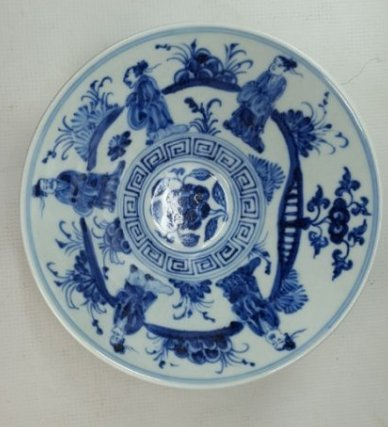 Chinese Blue and White Porcelain Bowl Handpainted - 3