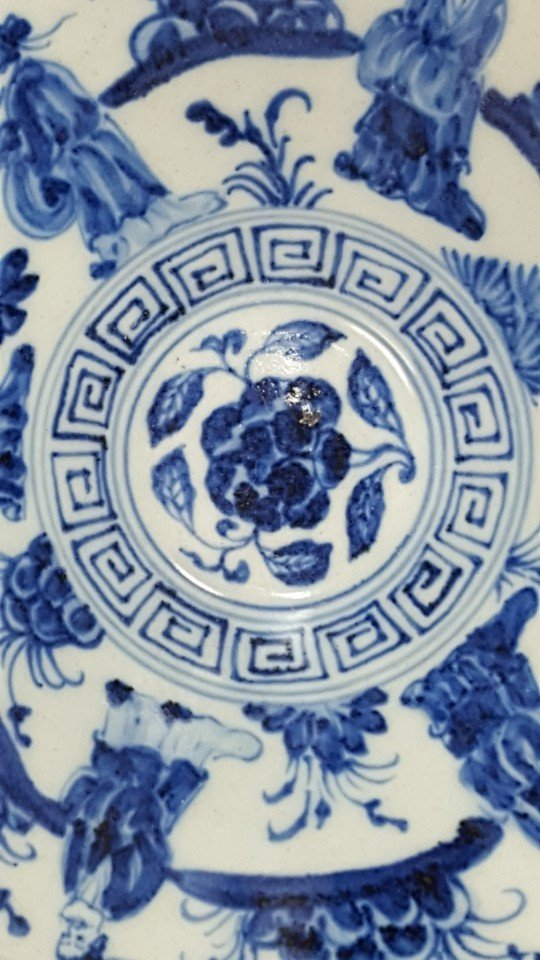Chinese Blue and White Porcelain Bowl Handpainted - 5