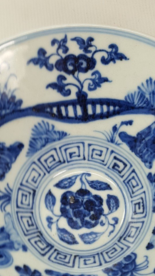 Chinese Blue and White Porcelain Bowl Handpainted - 6