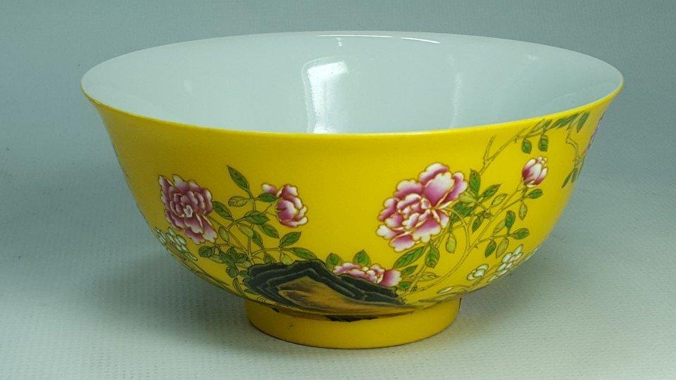 Chinese Flower Pattern Porcelain Bowl
