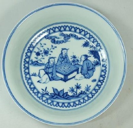 Chinese blue and white porcelain plate Ming