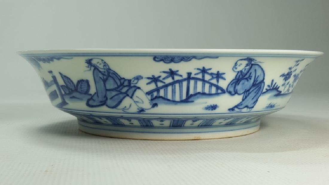 Chinese blue and white porcelain plate Ming - 9