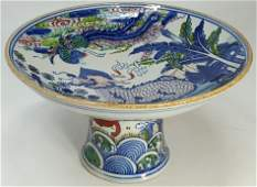 Chinese Porcelain Dragon Phoenix Offering Plate