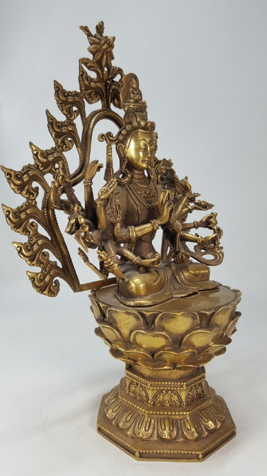 Chinese Bronze Buddha from Tang dynasty - 5