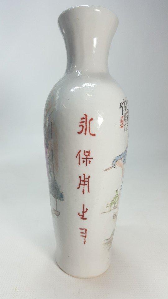 Chinese Pastel Porcelain Wine Bottle - 4