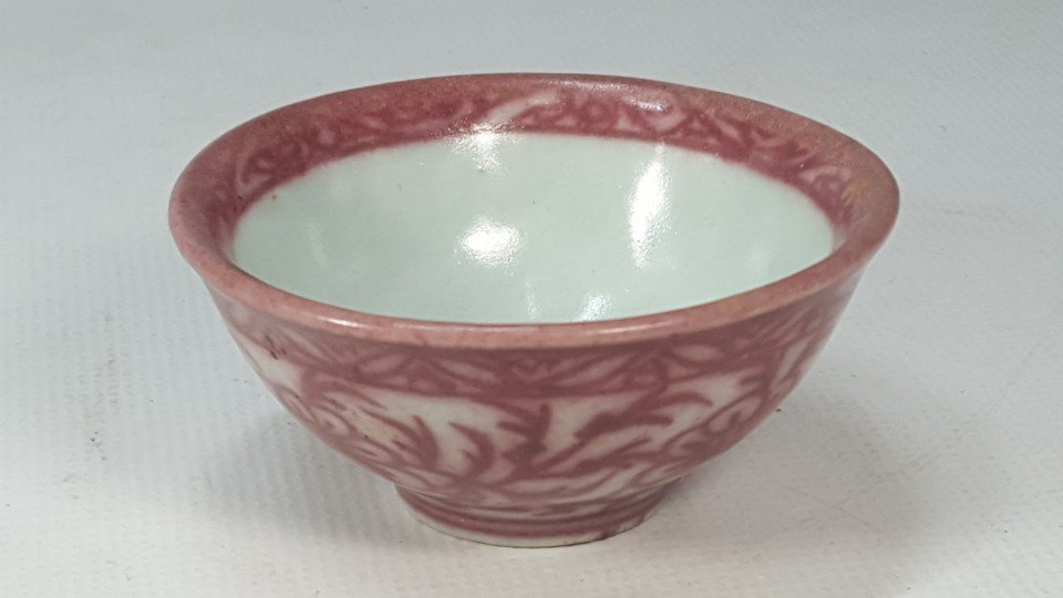 Chinese Underglaze-Red Flower Pattern Porcelain Bowl - 2