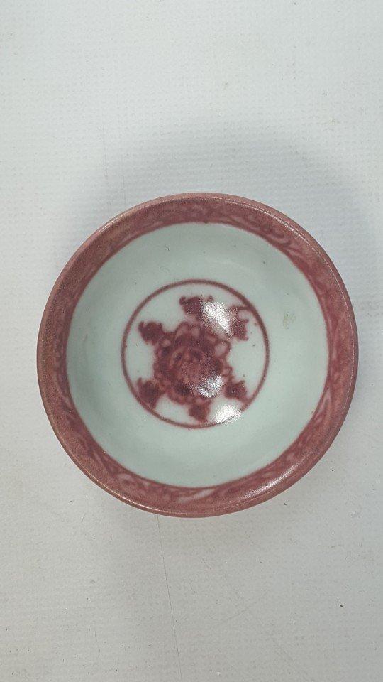 Chinese Underglaze-Red Flower Pattern Porcelain Bowl - 3