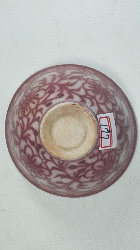 Chinese Underglaze-Red Flower Pattern Porcelain Bowl - 5