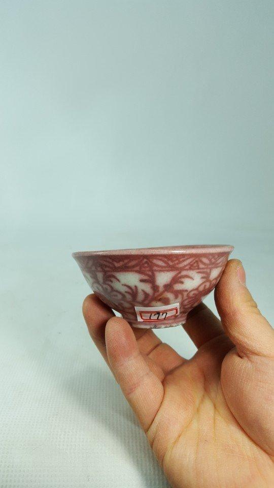 Chinese Underglaze-Red Flower Pattern Porcelain Bowl - 7