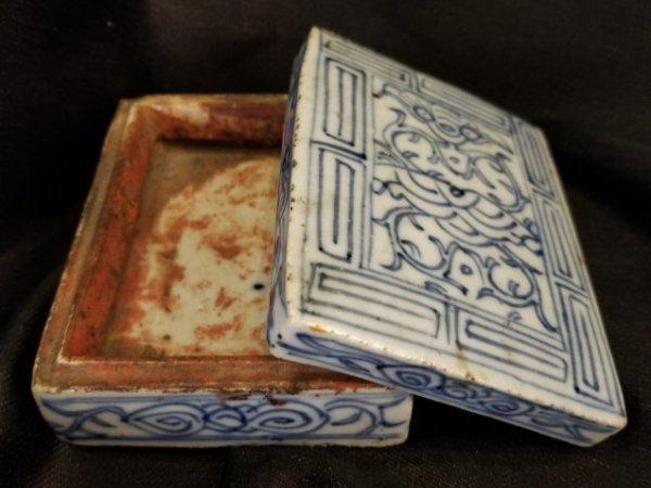 Chinese porcelain box Xianfeng