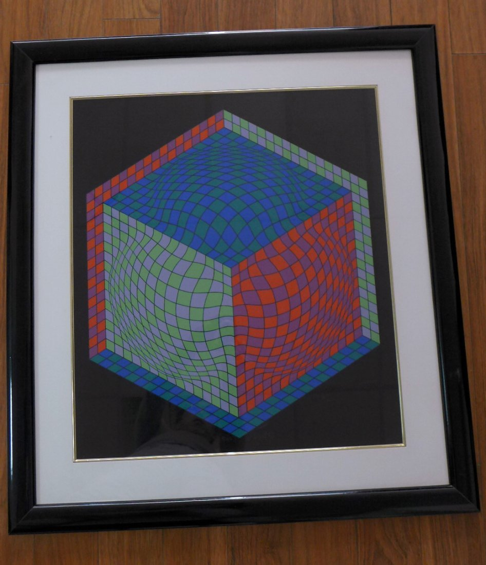 Victor Vasarely  ,  Hand Signed  88/250