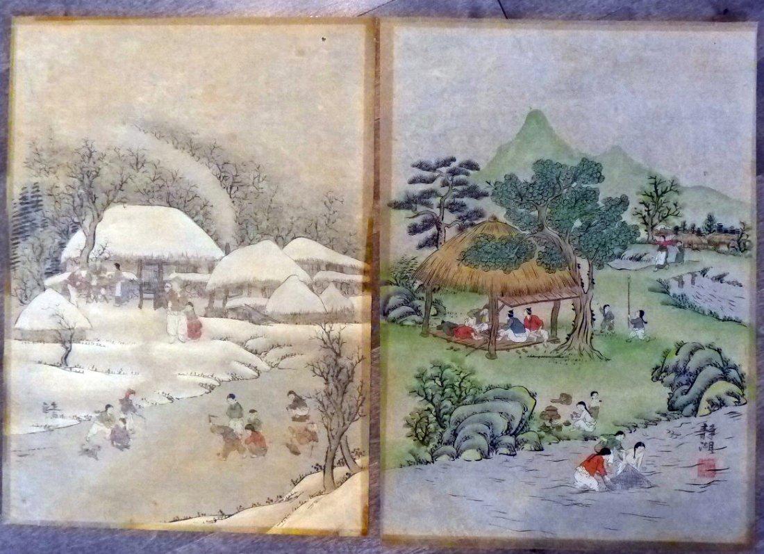 Korean Artist 2 Paintings/ Jung Ho