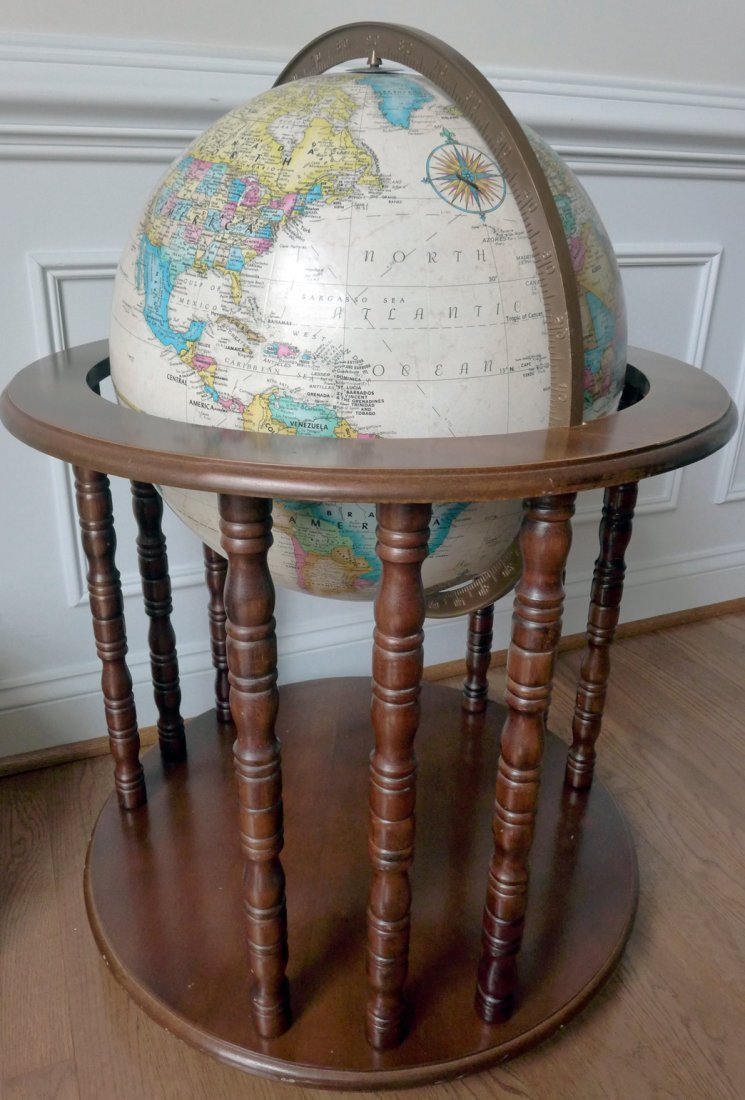 "Globe 16"" Replogle Globe With Antique Oceans"