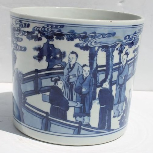 Chinese Qing d.'Wen Chang Shan Doo' brush pot